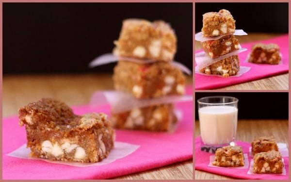 White Chocolate Salted Caramel Gooey Bars | cupcakesandkalechips.com | #saltedcaramel #blondies #cookies #barcookies