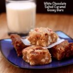 White Chocolate Salted Caramel Gooey Bars