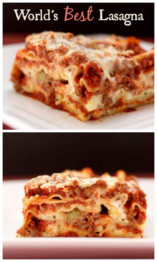 World's Best Lasagna - the quintessential recipe for this Italian comfort food classic