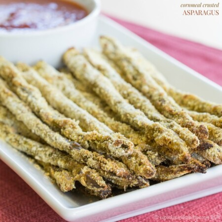 Cornmeal Crusted Asparagus (Simple Side Dish)