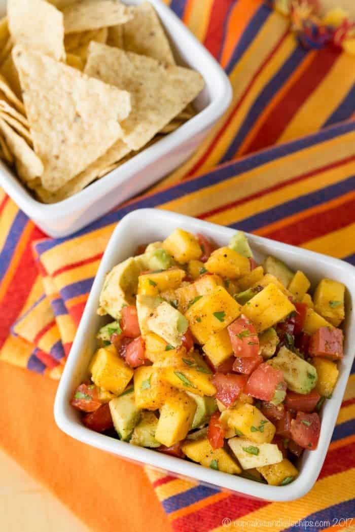 Salsa with Avocado and Mango