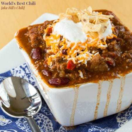 Bill's Chili is the World's Best Chili