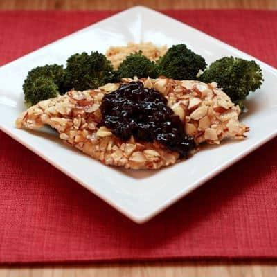 Almond Chicken with Cherry Balsamic Sauce 1