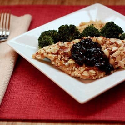 Almond Chicken with Cherry Balsamic Sauce 2