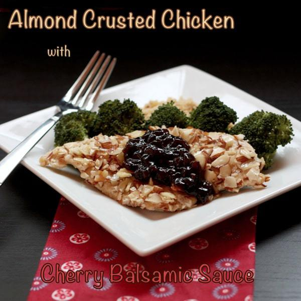 Almond Chicken with Cherry Balsamic Sauce 3