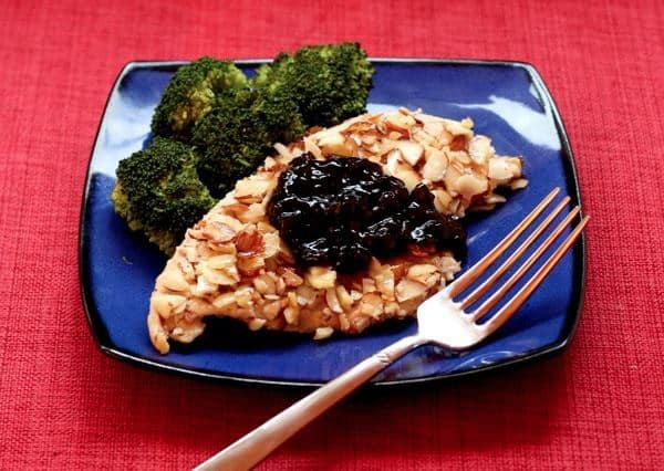 Almond Chicken with Cherry Balsamic Sauce 5