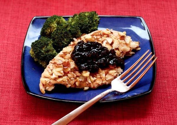Almond Chicken with Cherry Balsamic Sauce 5