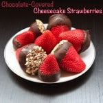 Chocolate-Covered Cheesecake Strawberries – June #RecipeRedux