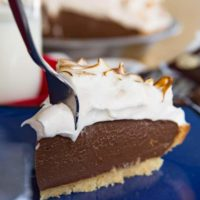 S'Mores Chocolate Pudding Pie