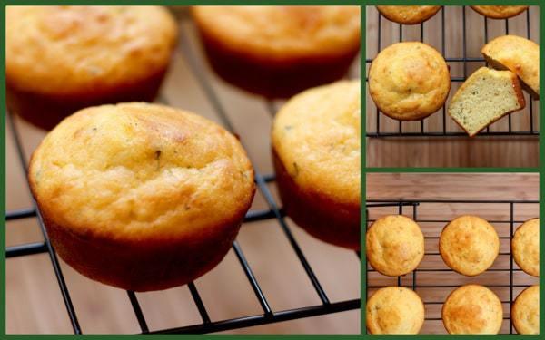 Sage Cornbread Muffins with Cranberry Orange Butter | cupcakesandkalechips.com | #cornmuffins #muffins #breakfast