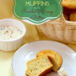 Sage Cornbread Muffins with Cranberry Orange Butter for #SundaySupper with @LandOLakesKtchn