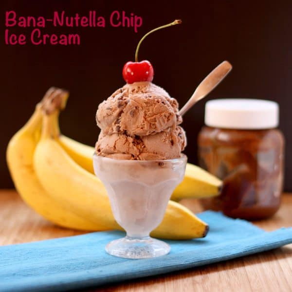 No-Cook 5-Ingredient Bana-Nutella Chip Ice Cream | cupcakesandkalechips.com #nutella #icecream #nocook