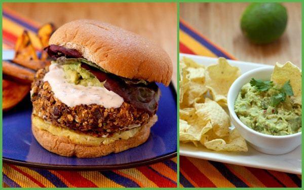 Mexican Black Bean & Quinoa Burgers with Homemade Guacamole | cupcakesandkalechips.com #vegetarian #quinoa