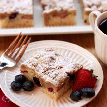 Red White  Blueberry Crumb Cake 10