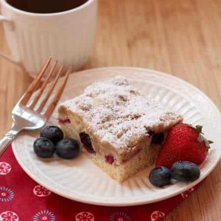 Red White Blueberry Crumb Cake 7