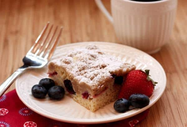 Red White  Blueberry Crumb Cake 9