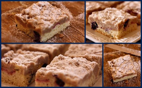 Red White Blueberry Crumb Cake collage 1
