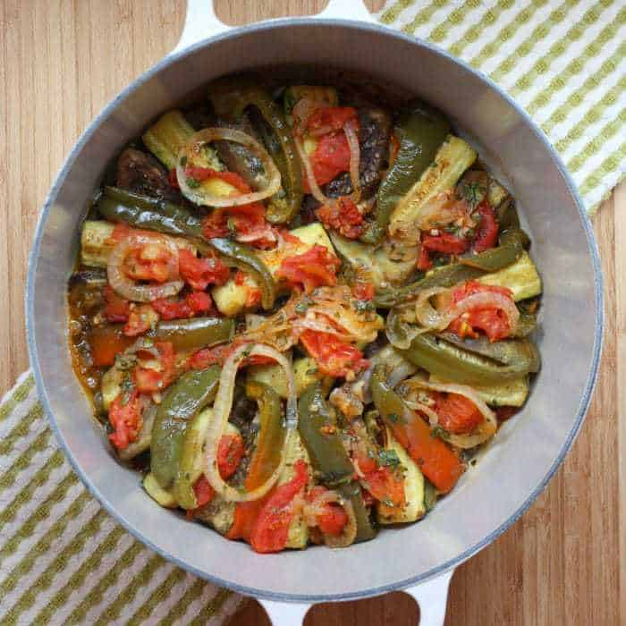 Julia Child Ratatouille in pot top