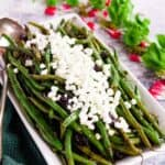 Shallot Balsamic Glazed Green Beans with Goat Cheese 1 edit title