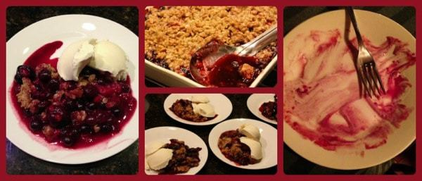 Cherry Berry Crisp Collage