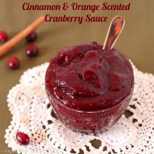 Cinnamon Orange Scented Cranberry Sauce | cupcakesandkalechips.com | A gluten free, vegan side dish for the holidays!