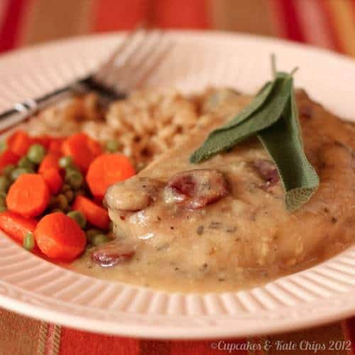 Cranberry Cider Gravy with Pork Chops
