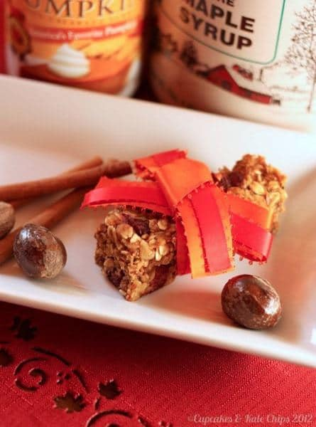 Pumpkin Maple Spice Granola Bars