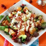Winter fruit is as delicious and plentiful as summer fruit is. While the varieties available may be smaller, the flavors aren't diminished at all in this winter fruit salad! Topped with feta cheese and a tangy cranberry balsamic dressing, this is a delicious salad recipe!