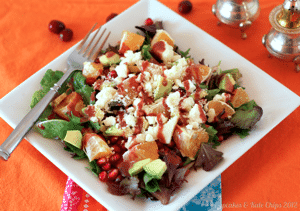 Pomegranate Feta  Clementine Salad