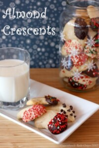 Almond crescents are a classic as far as Christmas cookies go. Get the recipe here!