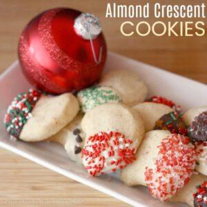 Almond Crescents Recipe