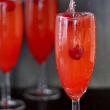 Christmas Mocktail in a flute