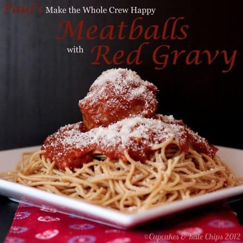 Sausage Meatballs with Red Gravy | Cupcakes & Kale Chips