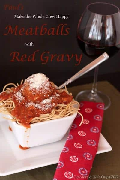 Meatballs  Red Gravy | Cupcakes  Kale Chips 2012 | 7 title wm