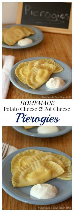 Homemade Pot Cheese and Potato Cheese Pierogies - my family recipe for the traditional Polish comfort food. | cupcakesandkalechips.com