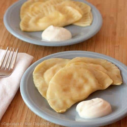 Potato Cheese and Pot Cheese (aka Farmer's Cheese) Pierogies | cupcakesandkalechips.com | #polishfood #homemade