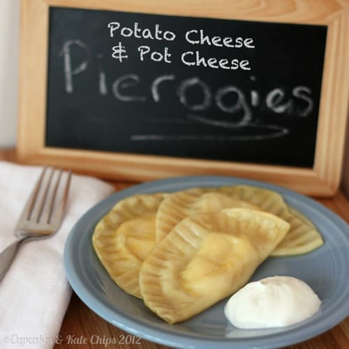 Potato Cheese and Pot Cheese (aka Farmer's Cheese) Pierogies | cupcakesandkalechips.com | #polishfood #homemade