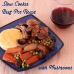 Slow Cooker Beef Pot Roast with Mushrooms inspired by Giada DeLaurentiis for #SundaySupper