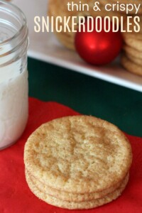 Classic Christmas cookies like these Snickerdoodles belong on every holiday cookie platter!