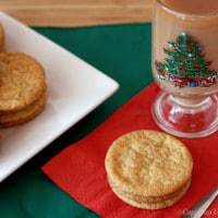Snickerdoodles on a red napkin