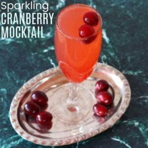 Sparkling Cranberry Mocktail square featured image with title