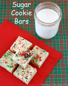 Sugar cookie bars - Christmas cookies don't get tastier than these!