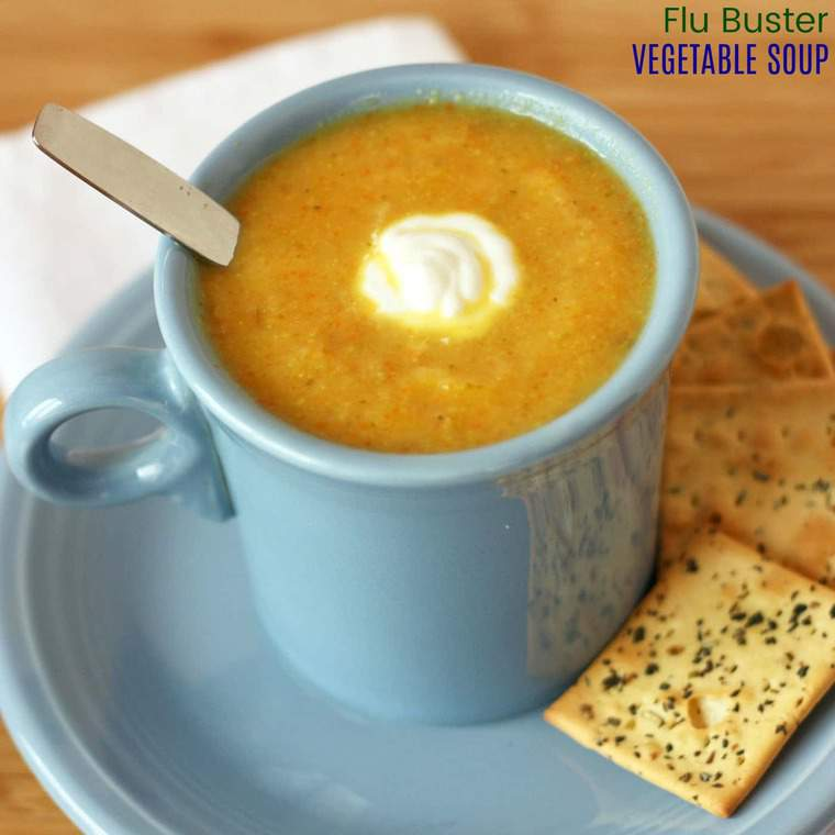Flu Buster Vegetable Soup - Cupcakes & Kale Chips