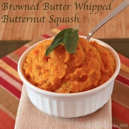 Browned Butter Whipped Butternut Squash - a gluten free, vegetarian side dish | cupcakesandkalechips.com