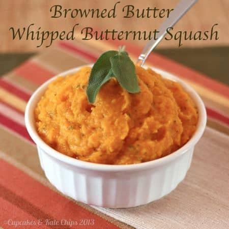 Browned Butter Whipped Butternut Squash | cupcakesandkalechips.com | #brownedbutter #glutenfree #vegetarian #butternutsquash