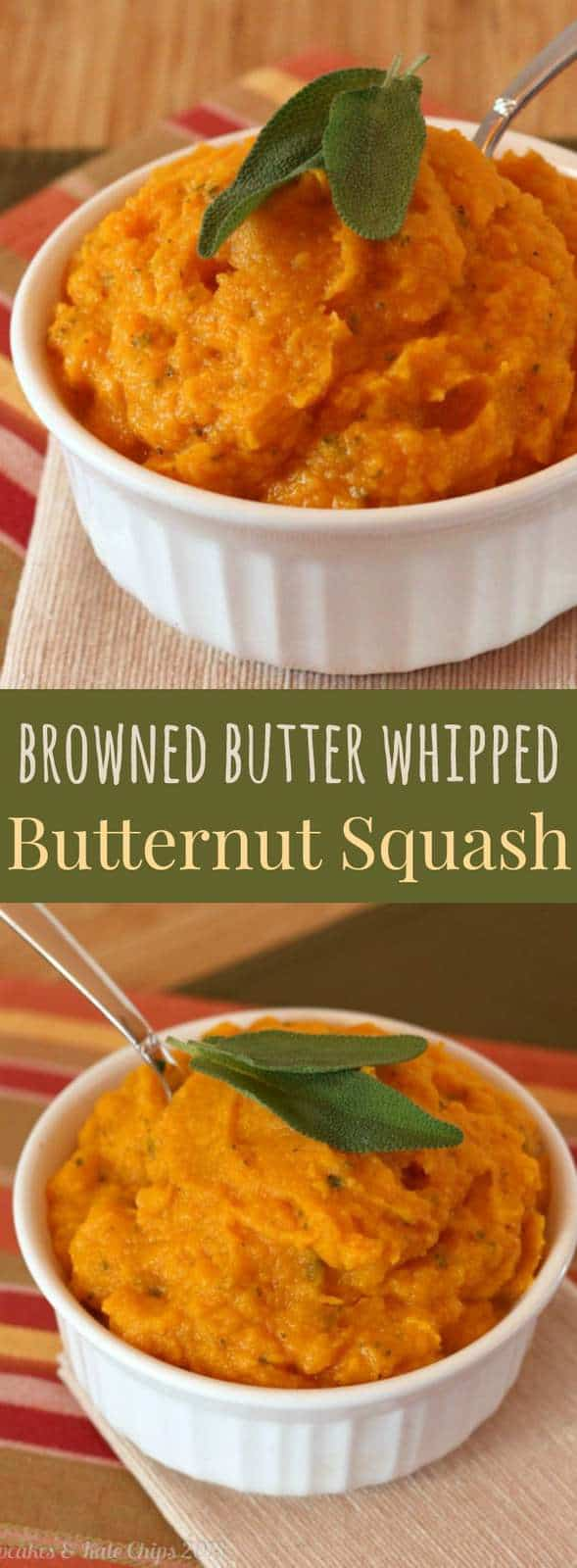 Browned Butter Whipped Butternut Squash - an easy, healthy side dish. Gluten free, low carb, paleo