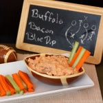 Buffalo Bacon Blue Cheese Dip {Low Carb}