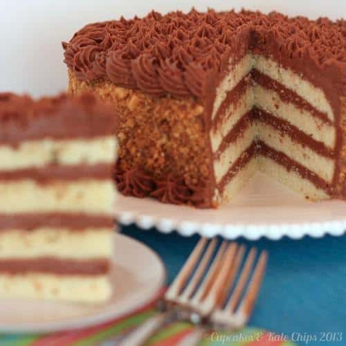 Gluten Free Golden Fudge Cake | cupcakesandkalechips.com | #glutenfree #birthdaycake
