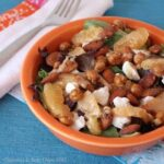 Orange Roasted Chickpea Dinner Salad with Sherry Citrus Vinaigrette