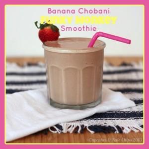 Funky Monkey Smoothie | cupcakesandkalechips.com | #banana #chocolate #peanutbutter